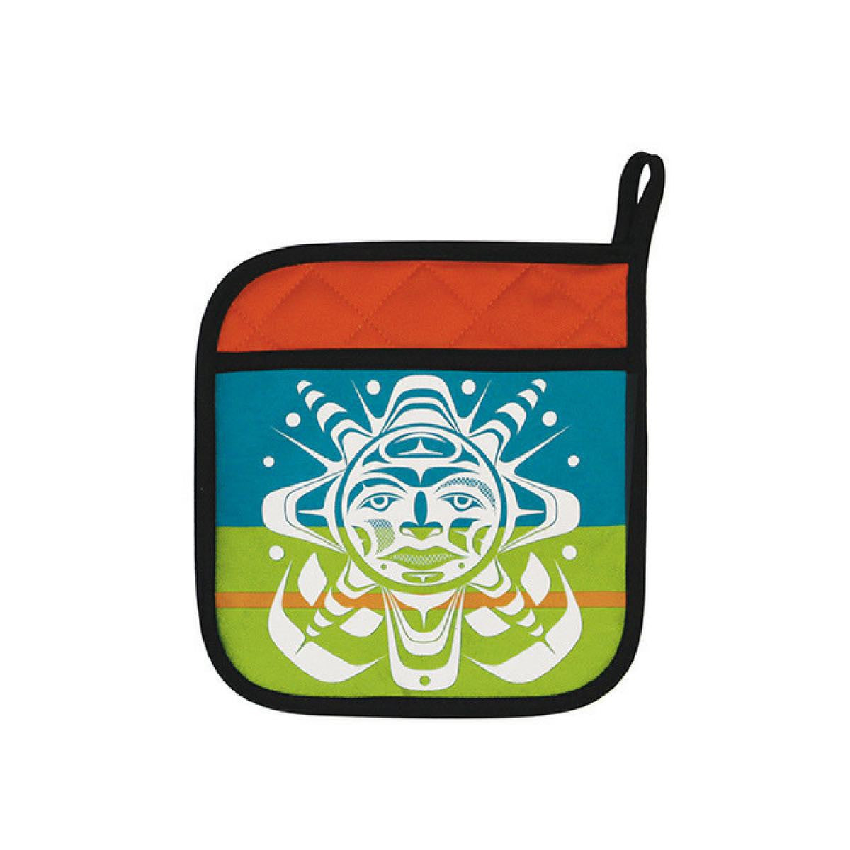 Potholder - Salish Sun by Paul Windsor