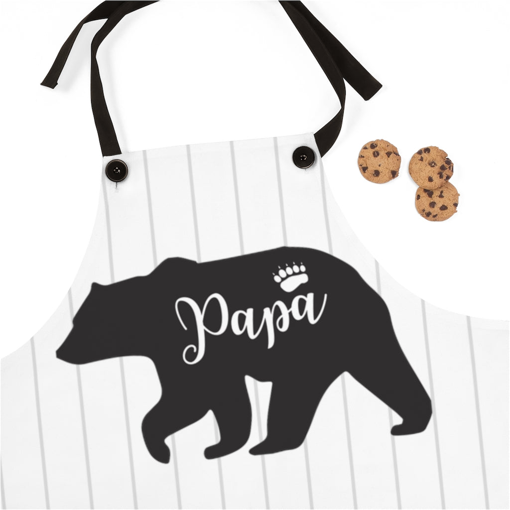 Striped Papa Bear Apron