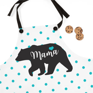 Blue Polka Dot Mama Bear Apron