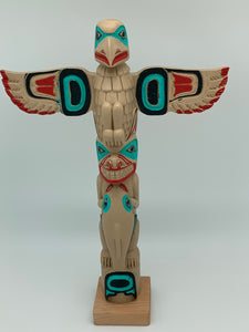"12"" Eagle Wolf Killerwhale Totem"