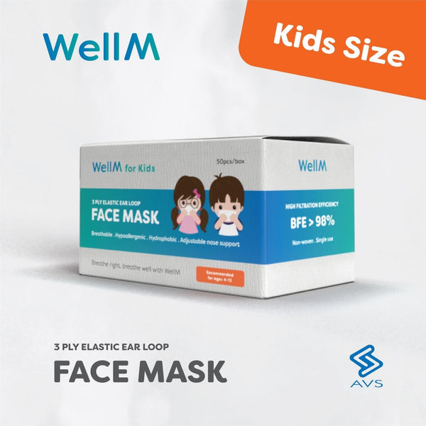 WellM 3-Ply Face Mask for Kids