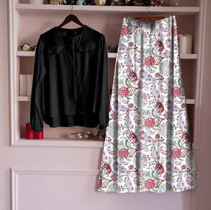 Stylish Heavy Rayon Top & Skirt Set