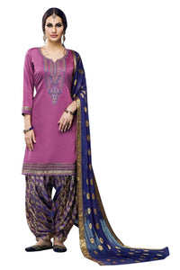 Charming Partywear Embroidered Cotton Patiala Suit