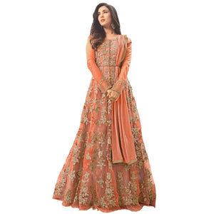 Attractive Net Women's Anarkali Gown