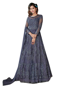 Sensational Party Wear Embroidered Georgette Gown