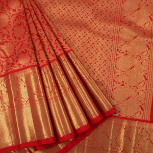 New look Red And Golden Color Designer Saree