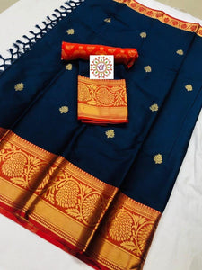 Blissful Festive Wear Pure Cotton Silk Saree