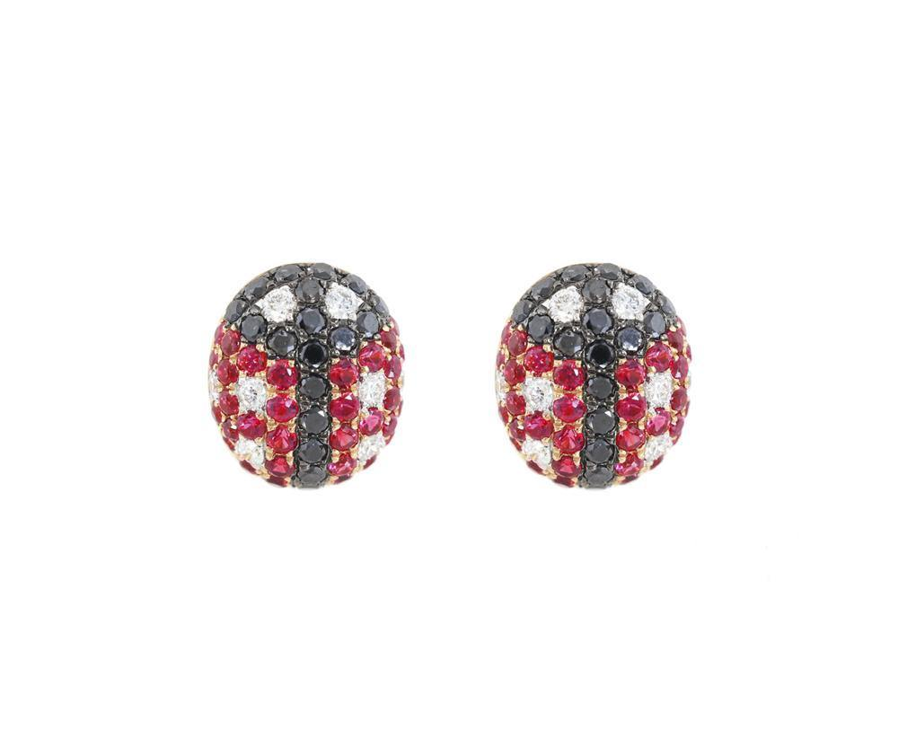 Diamond & Gemstone Earrings CE120R - Cometai