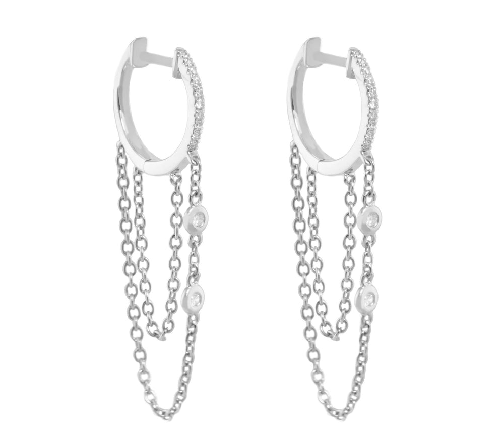 40mm Diamond Earrings CE129