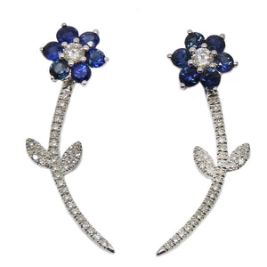 Load image into Gallery viewer, Sapphire Earring CE211-3W