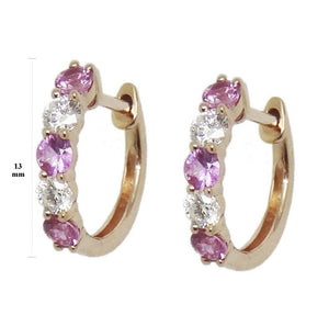 Load image into Gallery viewer, Diamond & Gemstone Earrings CE223-2R