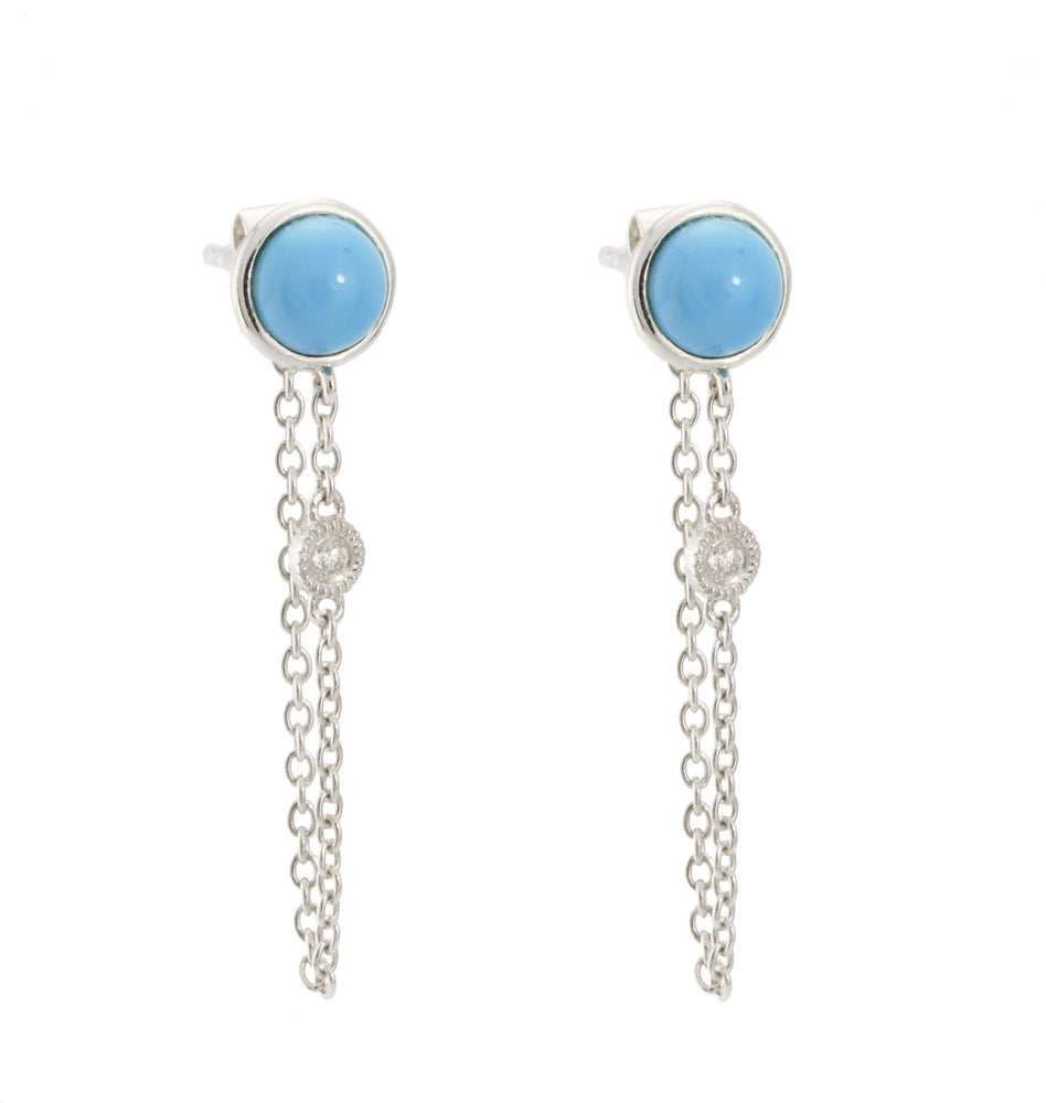 Gemstone & Diamond Earrings CE241