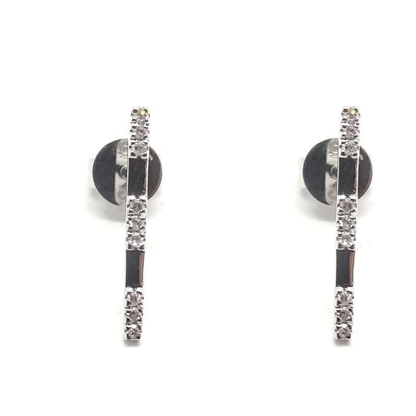 Diamond Earrings CE57W - Cometai