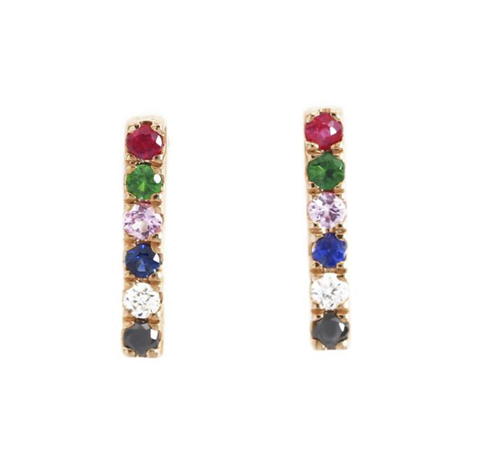 Load image into Gallery viewer, Diamond & Gemstone Earrings CE69 - Cometai