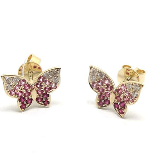 Load image into Gallery viewer, Diamond & Gemstone Earrings CE75 - Cometai