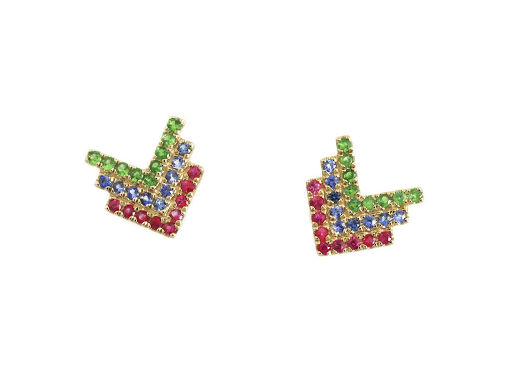 Gemstone Earrings CE85-2Y