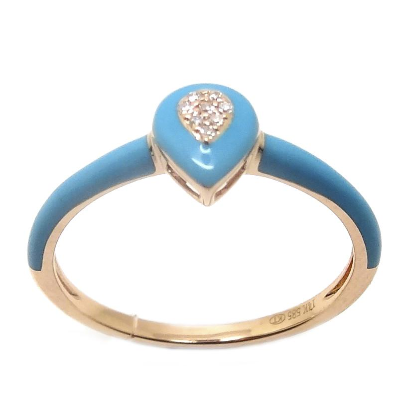 Load image into Gallery viewer, Enamel Diamond Ring CR183