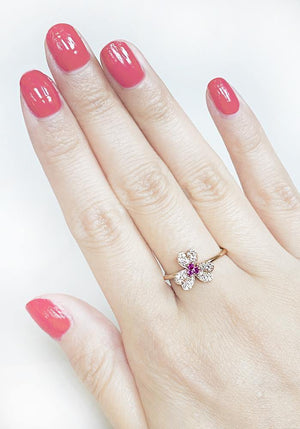 Load image into Gallery viewer, Diamond & Gemstone Ring CR79-2R - Cometai