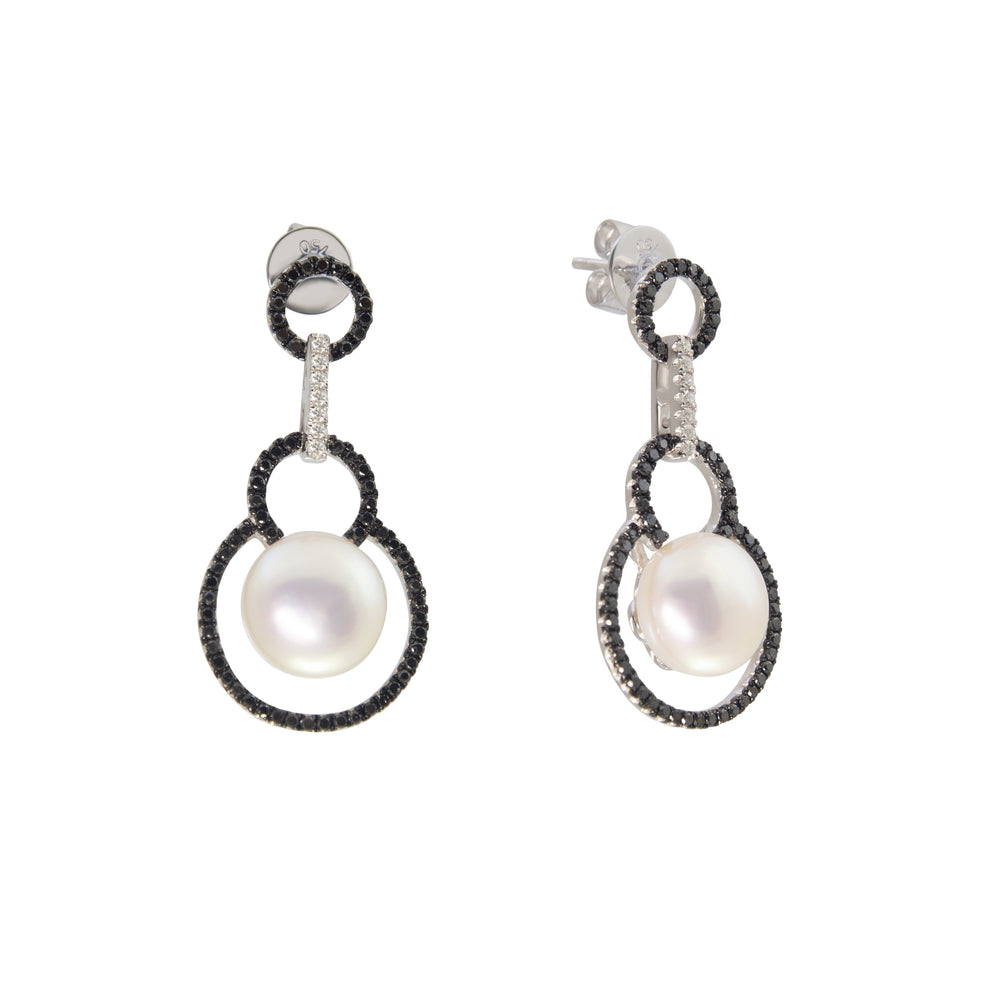 10mm Pearl & Diamond Earring E19021