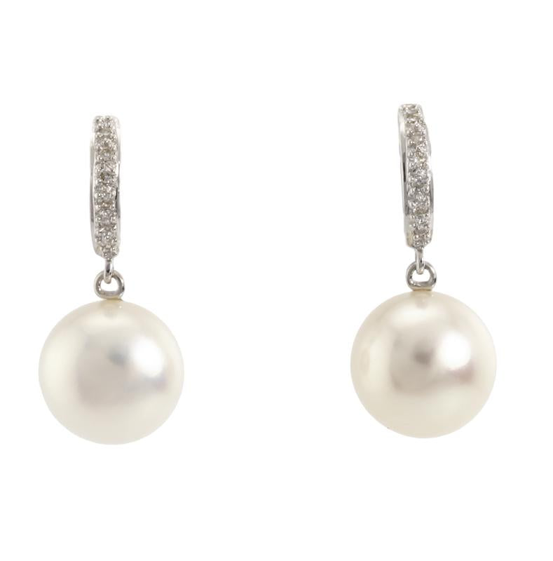 Load image into Gallery viewer, Pearl & Diamond Earrings E26931