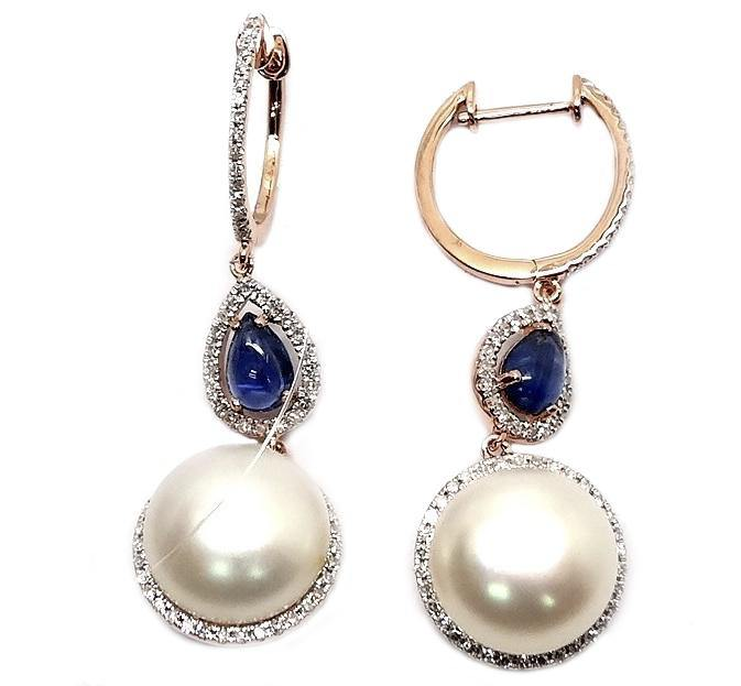 Load image into Gallery viewer, 10mm Pearl & Diamond Earring E33871 - Cometai