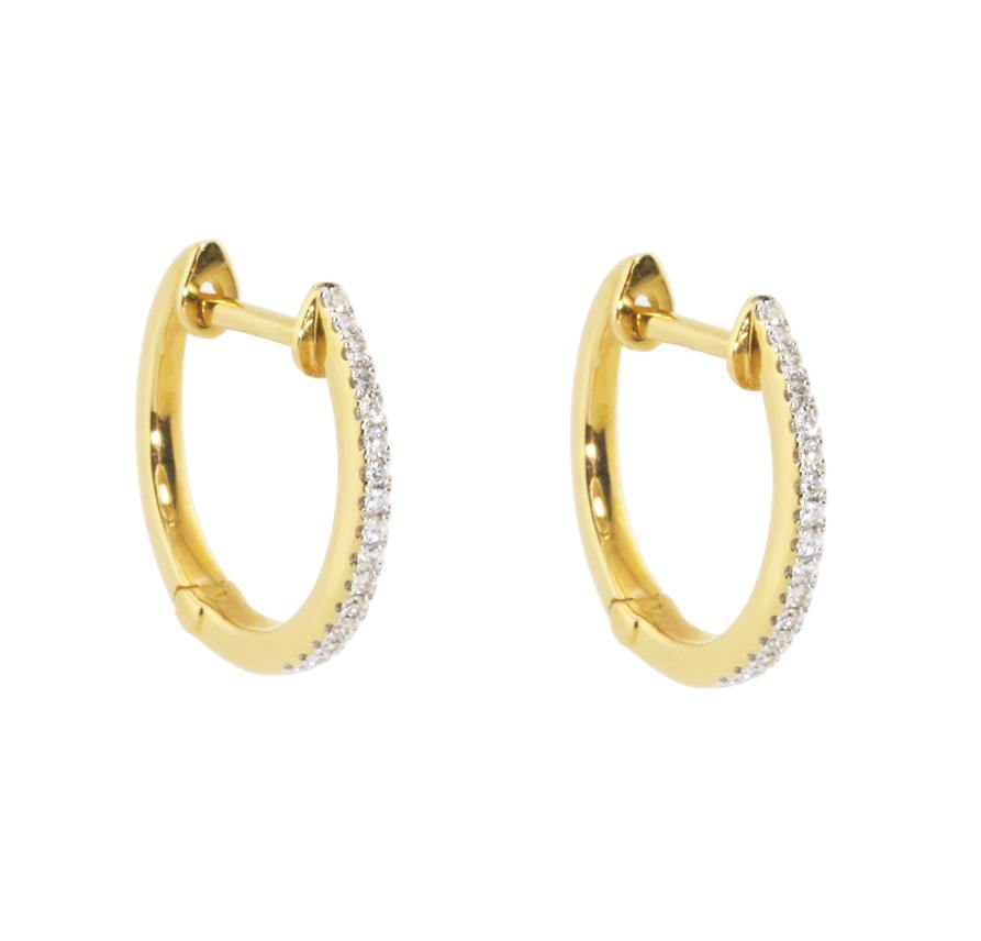 Load image into Gallery viewer, *15mm Diamond Earrings E36170 - Cometai