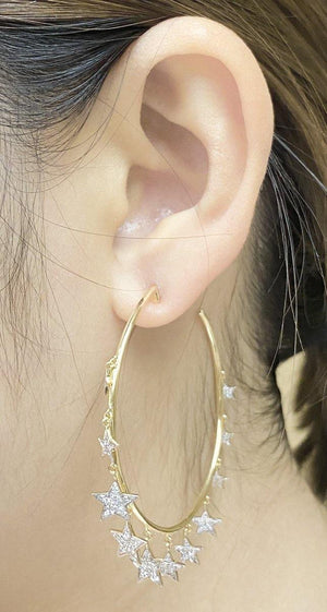 Diamond Earrings E39247 - Cometai