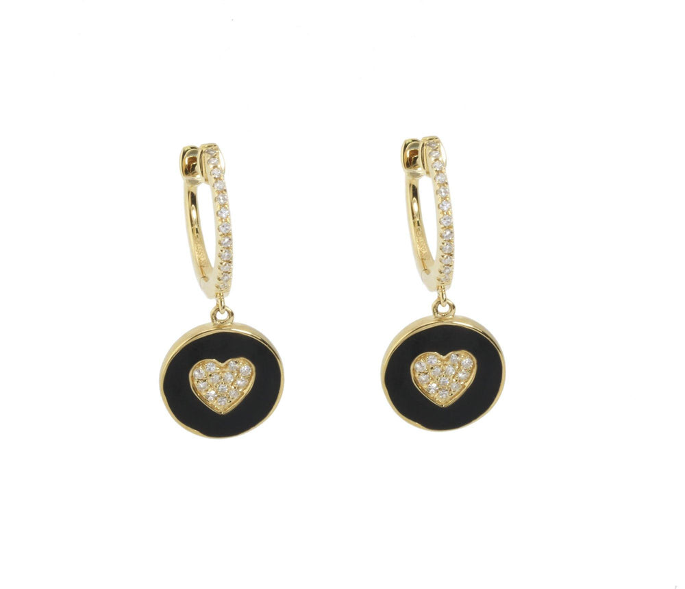 Load image into Gallery viewer, Enamel Diamond Earrings E39330 - Cometai