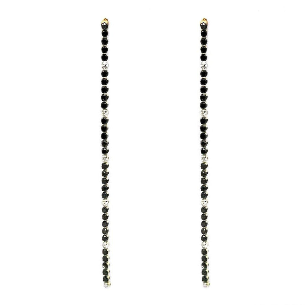 *Black Diamond Earrings E40756