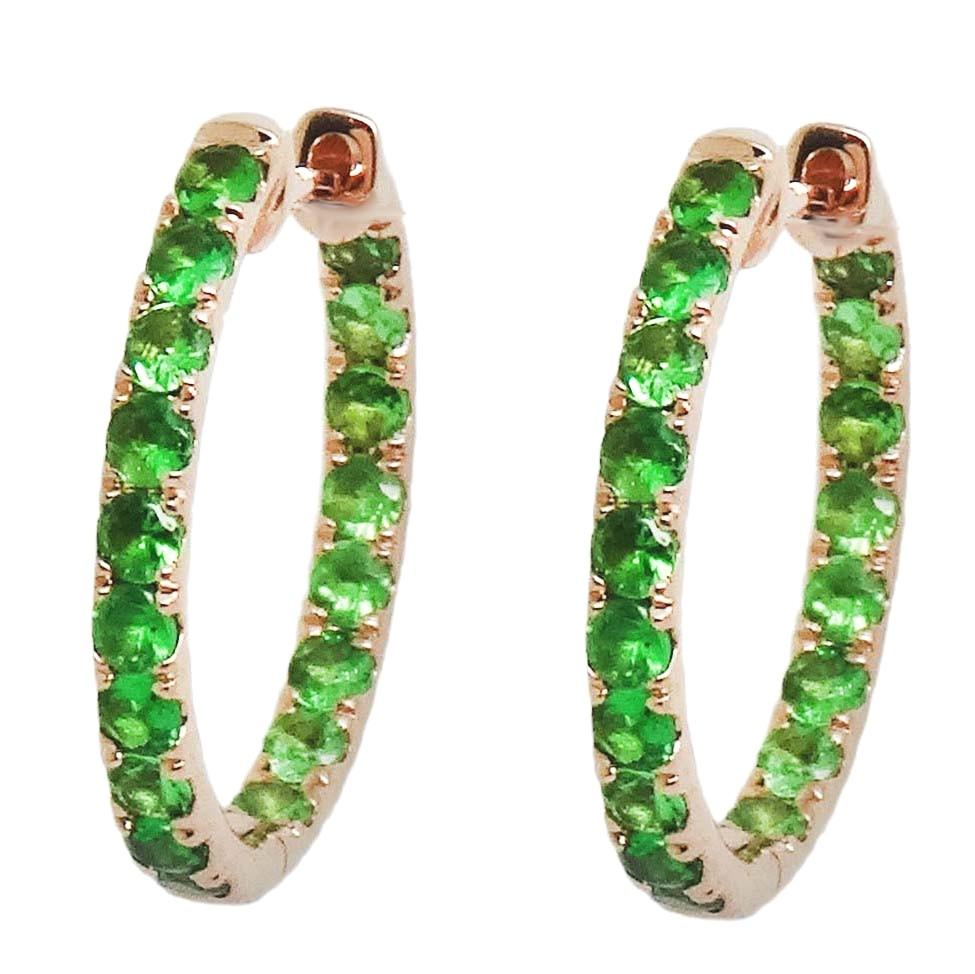 Tsavorite Earrings E40880