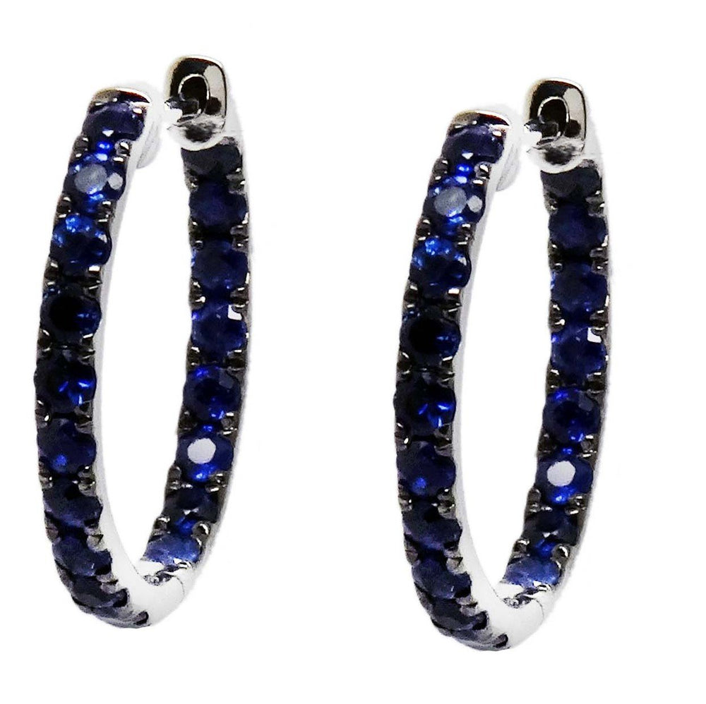 Load image into Gallery viewer, Sapphire Earrings E40880
