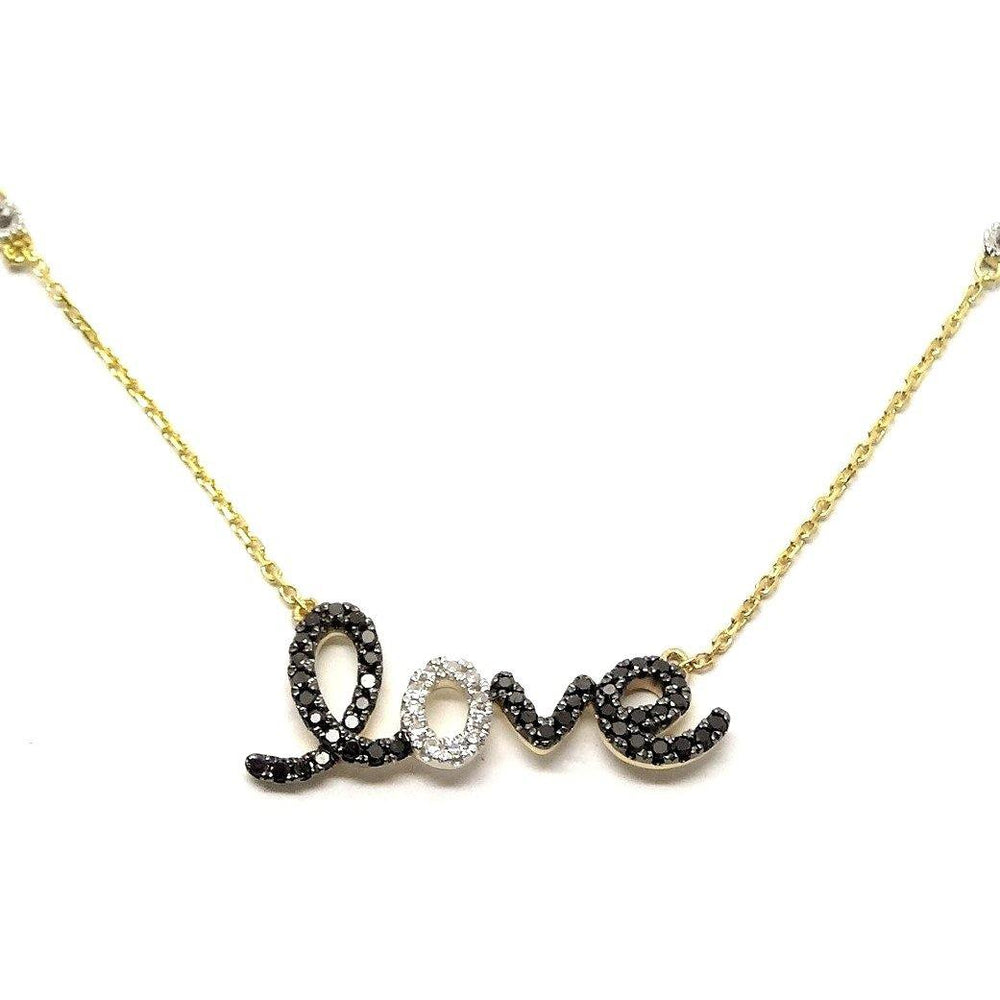 Load image into Gallery viewer, Black Diamond Necklace NL32665 - Cometai