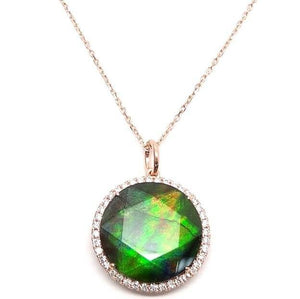 Diamond & Ammolite Necklace NL33234 - Cometai