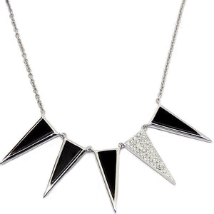 Load image into Gallery viewer, Diamond & Onyx Necklace NL35721 - Cometai