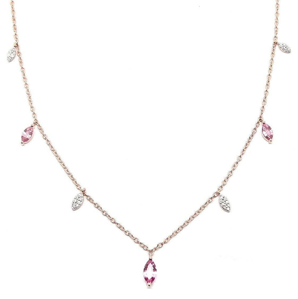 Load image into Gallery viewer, Diamond & Gemstone Necklace NL39953 - Cometai