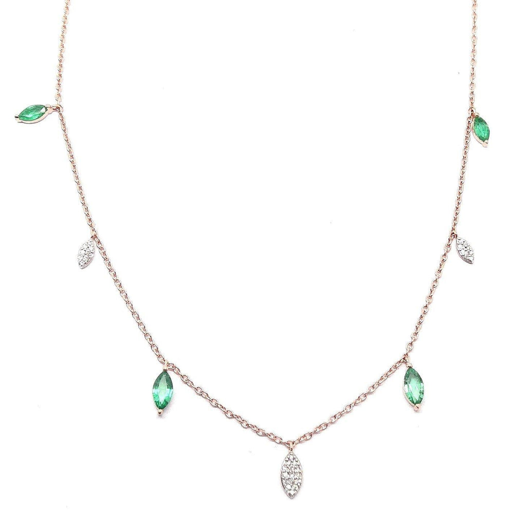 Diamond & Gemstone Necklace NL39956 - Cometai