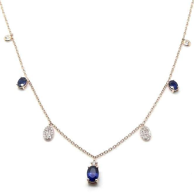 Load image into Gallery viewer, Diamond & Gemstone Necklace NL40199 - Cometai