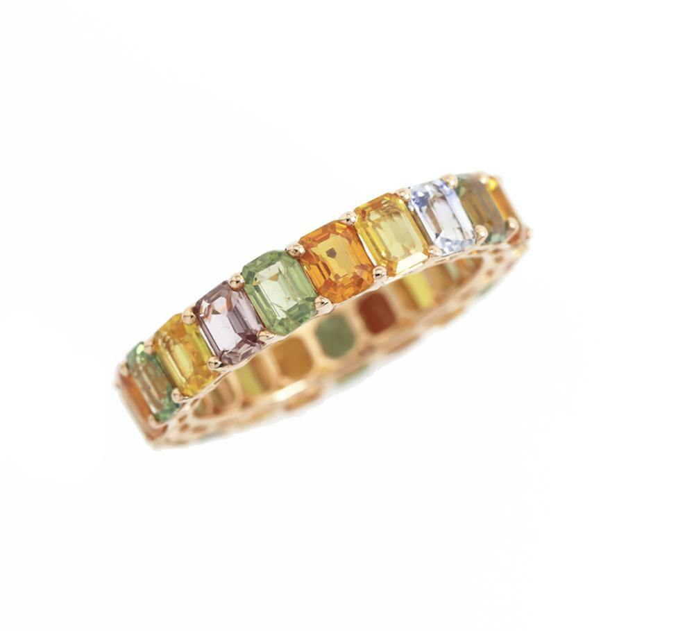 Color Gemstone Ring R39022 Model 6