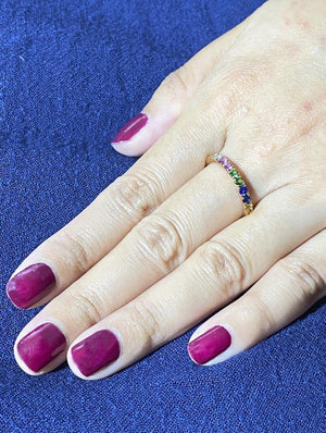Load image into Gallery viewer, Color Gemstone Ring R39082 - Cometai
