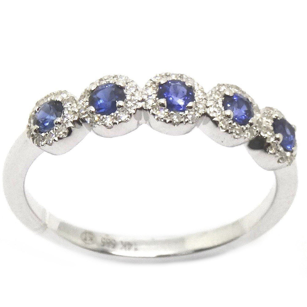 Sapphires & Diamonds Ring R41039