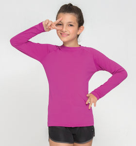 Kids Fpu50+ Uvpro Long Sleeve T-Shirt Pink Uv