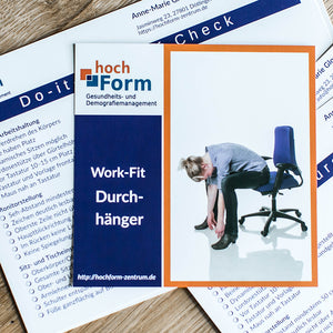 "Fit-at-Work Kartenset, ""Ergo-Check"", Poster + E-Book"