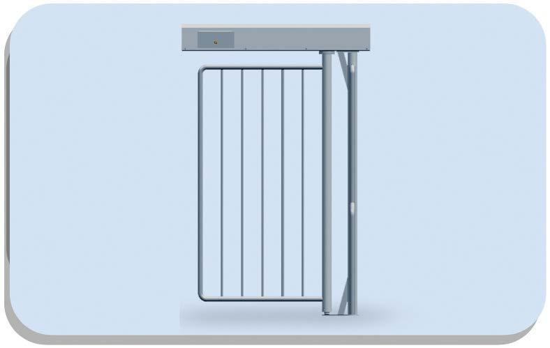 Mpg-162 Full Height Motorized Modular Gate - Pedestrian Turnstilies