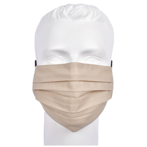 Gubbacci Premium Pleated Flat Mask For Adults - Beige