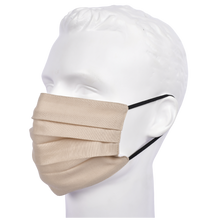 Load image into Gallery viewer, Gubbacci Premium Pleated Flat Mask For Adults - Beige