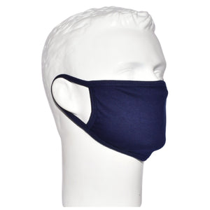 Reusable Basic Cotton Face Mask For Adults - Navy Blue Color