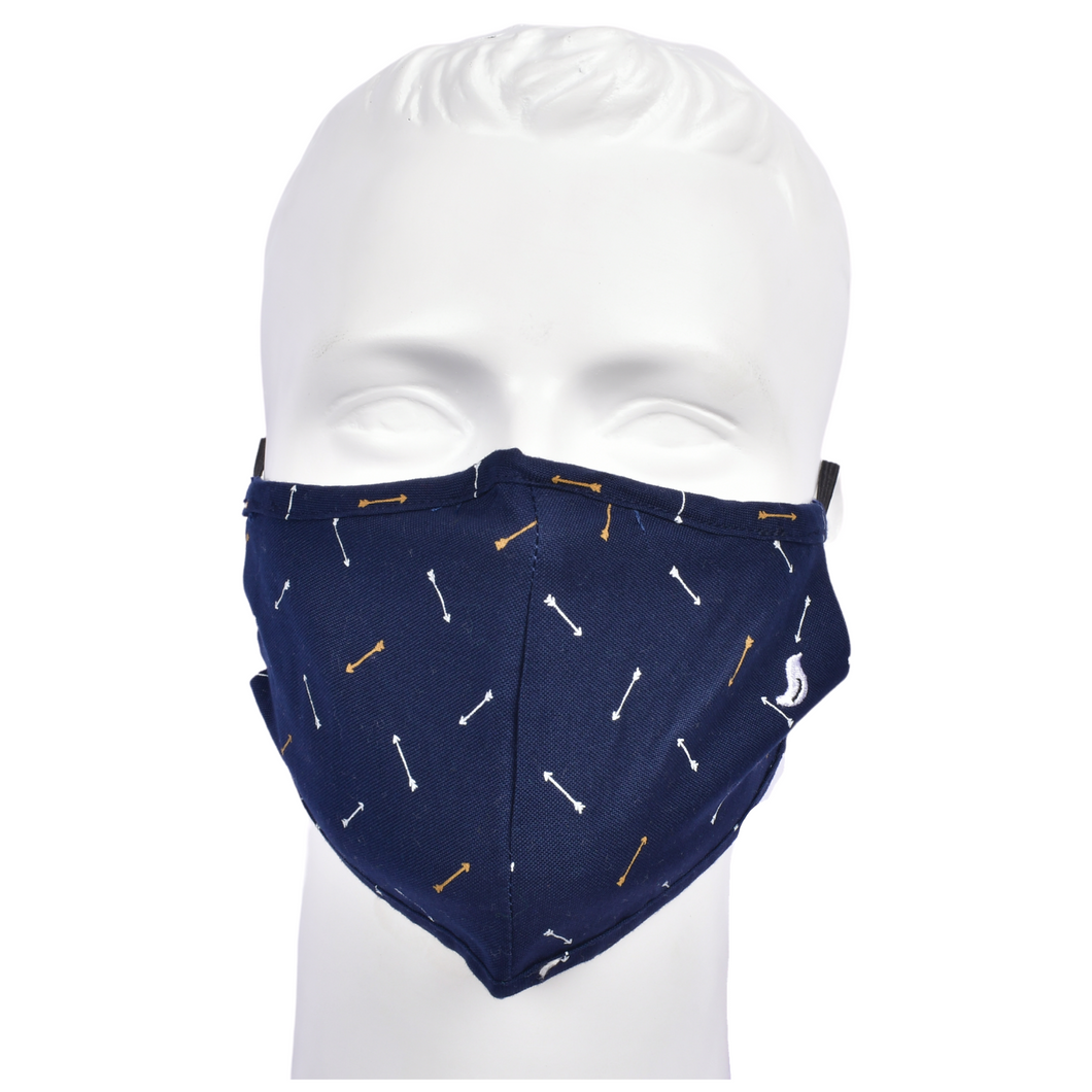 Gubbacci Premium Plus Face Mask with Filter - Arrow Blue