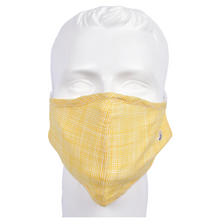 Load image into Gallery viewer, Gubbacci Premium Plus Face Mask with Filter - Yellow & White Stripes