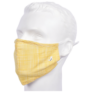 Gubbacci Premium Plus Face Mask with Filter - Yellow & White Stripes