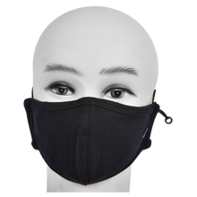Load image into Gallery viewer, Standard Masks for Kids (5-12 Years)- Black
